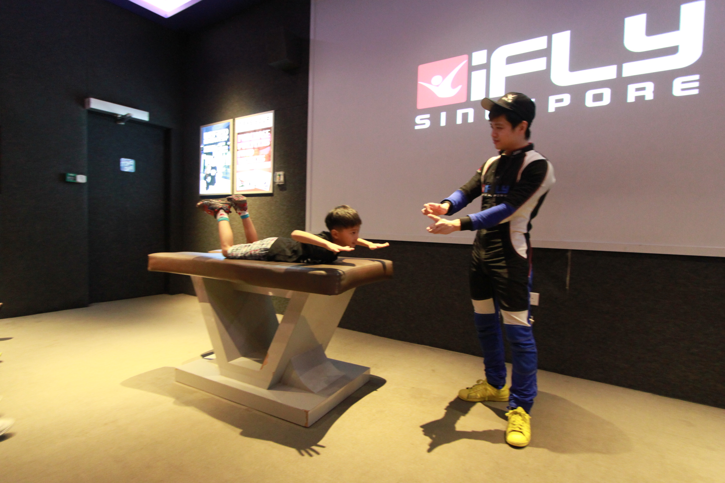 Ifly Singapore To A 7 Year Old Probably His Best And Most Wow Adult Finally Its Time For The Real Thing They Are All Escorted Upstair Flying Chamber Area Can See On Going Flight As Well But Now